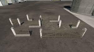 Brick Fences And Gates Pack V 1 0 Fs19 Mods