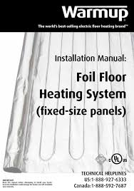 foil heating panels installation manual