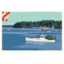 Port Clyde Lobster Boat Art Print 36