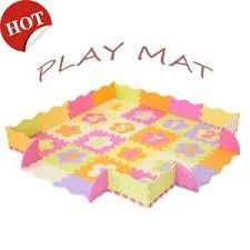 Baby Play Mat With Fence Interlockin Foam Floor Tiles Crawling Waterproof Mat Us Ebay