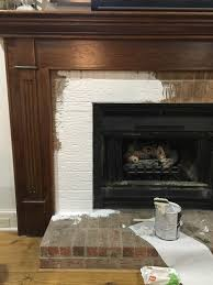how to paint fireplace mantel