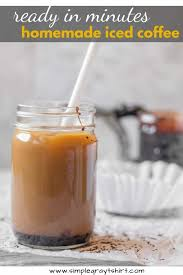 iced mocha w homemade chocolate syrup