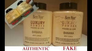 how to spot fake ben nye banana powder