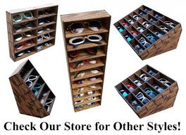 sunglass organizer holder display case