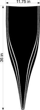 Stickerchef Triangle Stripe Car Decals Hood Decal Vinyl Sticker Graphi
