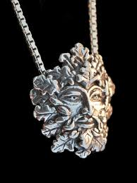 green man pendant silver greenman