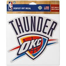 Oklahoma City Thunder Stickers Thunder Bumper Sticker Car Decal Fansedge