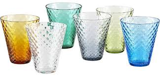 best vintage striped drinking glasses