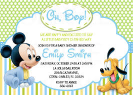 Bebe Mickey Mouse Invitaciones De Cumpleanos O Baby Shower