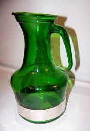 vintage italian green glass pitcher