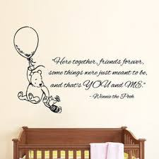 Shop Winnie The Pooh Quotes Friends Forever Lovely Interior Vinyl Sticker Nursery Room Decor Sticker Decal Size 22x30 Color Black Overstock 14679965