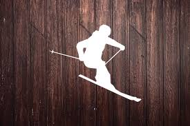 Skier Silhouette Car Decal Laptop Decal Window Decal Etsy