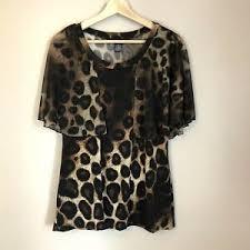 Adele May Womens blouse black animal print overlay sleeveless Size Small    eBay
