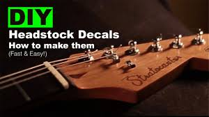 Diy Headstock Decals How To Make Them Fast Easy Youtube