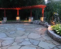 irregular stone patio design patio