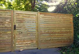 Horizontal Board Privacy Wood Fence Contemporary Wood Fence Design Wood Fence Gate Ideas Fence Designs Wood Fence Gate Designs Fence Design Wood Fence Design