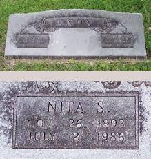 """Juanita """"Nita"""" Smith Knox (1893-1986) - Find A Grave Memorial"""