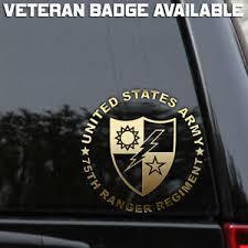 Us Army 75th Ranger Regiment Decal Sticker Veteran Window Ebay