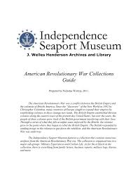 american revolutionary war collections