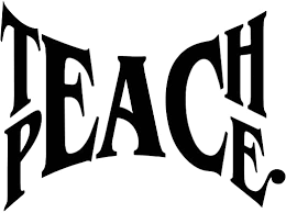 Amazon Com Teach Peace Inspirational Wall Decal A Peace Wall Decor Get Along Teaching Hope Inspiring Peace Quotes Inspirational Quotes Wall Decals Removable Vinyl Wall Decal Black Home Kitchen