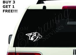 Nashville Predators Hockey Nhl 6x3 5 Car Window Etsy