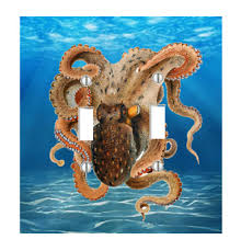 octopus light switch plate wall