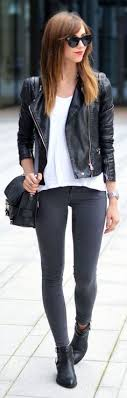 200 best black leather jacket outfit
