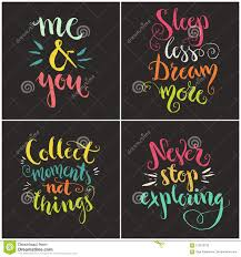 handdrawn quotes collection stock vector illustration of font