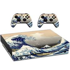 Xbox One X The Great Wave Of Kanagawa Skin Decal For Xbox Etsy