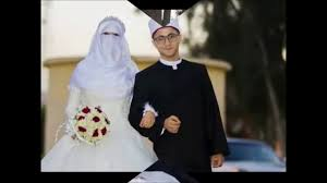صور عروس وعريس صور لعروس منتقبة وعريس ملتحي تحمل طابع اخر رمزيات