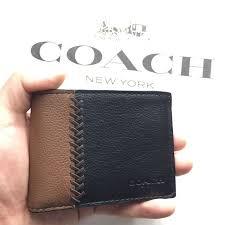 coach men s slim billfold wallet in