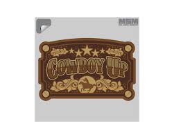Cowboy Up Decal Mil Spec Monkey Store