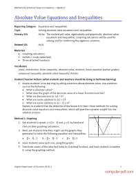 pdf absolute value equations and