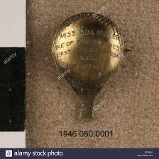 Balloon Shaped Pin Awarded to Ada Miller Stock Photo - Alamy