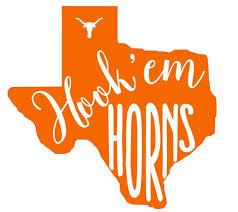 Texas Longhors University Of Texas Longhorns Decal Hook Em Horns Texas Longhorns Longhorn