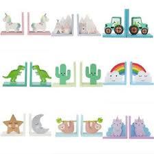 Sass Belle Nursery Kids Room Wooden Bookends Children S Bedroom Decoration Ebay
