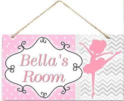 Amazon Com Weimeild Personalized Dancing Ballerina Ballet Dance Girls Door Sign Bedroom And Baby Nursery Kids Bedroom Wall Art Custom Door Sign Name Plaque Wood Plaque Sign Dancing Room Sign Home Kitchen