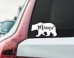 Mama Bear Decal Vinyl Decal Vinyl Stickers Car Decal Car Sticker Window Decal Yeti Decal Mom Bear Mommy Mama Bear Decal Bear Decal Vinyl Decals