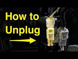 how to unplug yellow seat airbag sensor