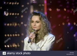 Tedesco cantante pop Nicole il 22 maggio 1991 a Berlino. Con la ...