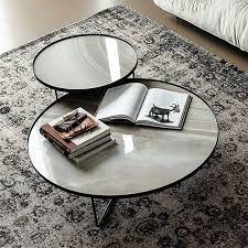 marble round coffee table living room
