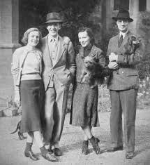 "A reunion of Astaires in Ireland, 1939 ""Mr. and Mrs. Fred Astaire with Lord  and Lady Charles Cavendish photographed on… 