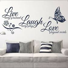 Live Laugh Love Quote Removable Wall Art Stickers Mirror Decal Diy Room Decor D