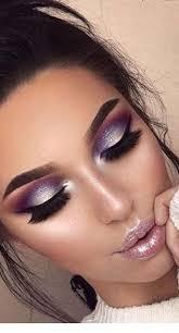 sweet purple eye makeup and black eye