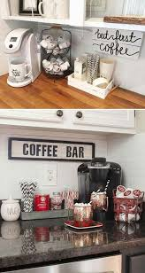 couple quotes indicate a small coffee bar by a wall quote made