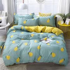 blue yellow pear fashion duvet cover