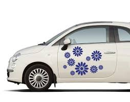 Flower Car Decal Style And Apply