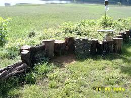 Tree Stump Fence Tree Stump Creative Gardening Fence Trees