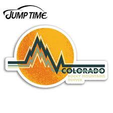 Jump Time Colorado Rocky Mountains Denver Vinyl Stickers Sticker Luggage Decal Decor Window Bumper Waterproof Car Stickers Aliexpress