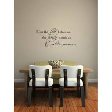 Bless The Food Before Us The Family Beside Us The Love Between Us Wall Quote Wall Decals Wall Decal Wall Sticker J520 Walmart Com Walmart Com